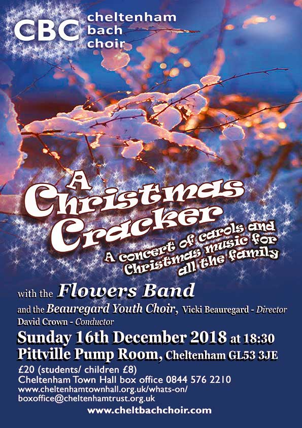 Cheltenham Bach Choir's festive Christmas concert at Pittville Pump Rooms is on Sunday 16 December 6.30pm